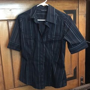New York & Company short sleeve, button-up.